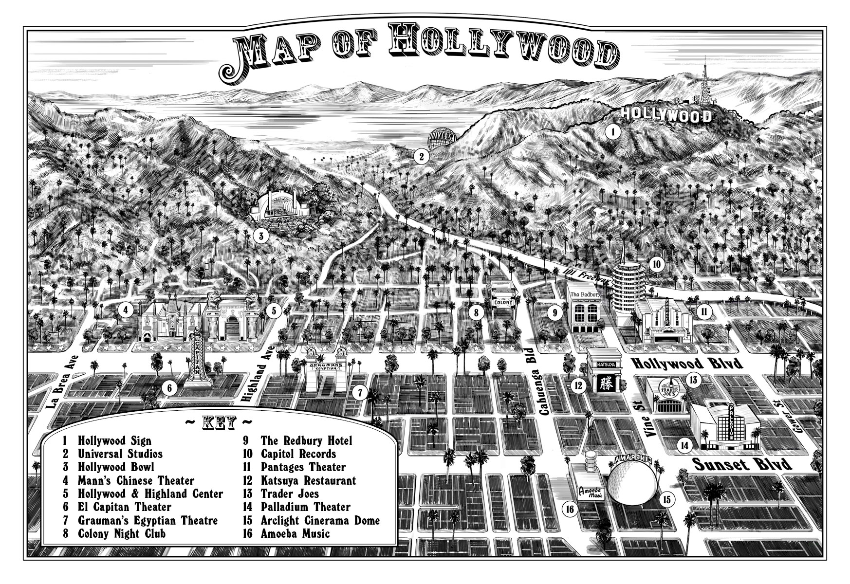 hollywood-map-and